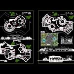 دانلود پروژه بیمارستان ۵۰ تخت خوابه دارای ۵ طبقه طراحی معماری
