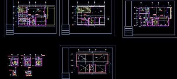 تصویر پروژه طراحی فنی ساختمان با جزئیات کامل