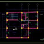 دانلود پروژه طراحی فنی ساختمان ۲ طبقه فاز ۲ شده