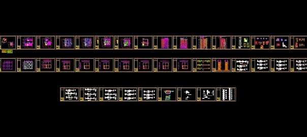تصویر پروژه طراخی فنی آپارتمان مسکونی تجاری