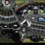 دانلود رایگان پلان مجموعه اقامتی تفریحی و طراحی محوطه