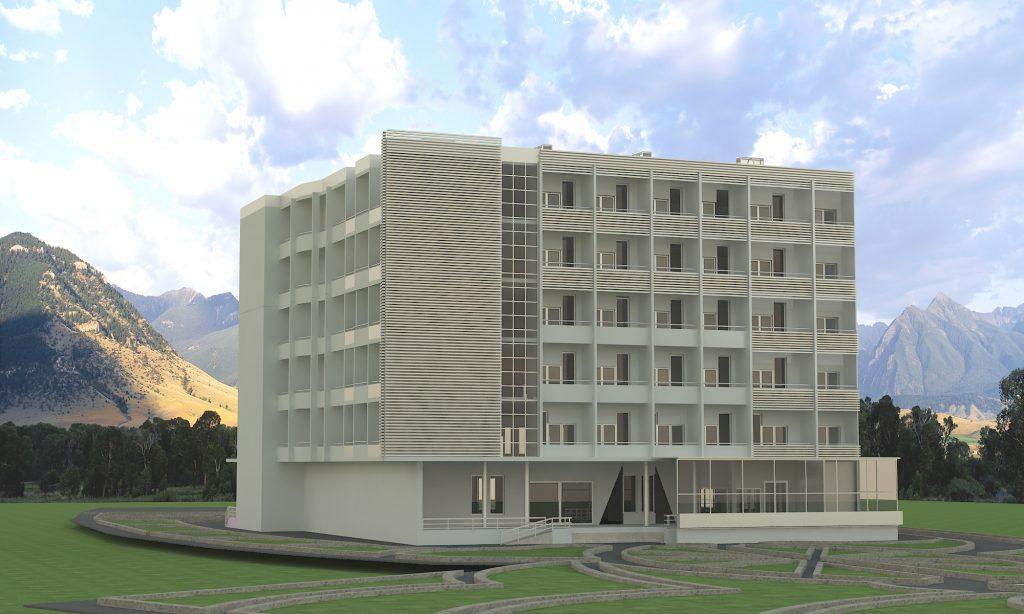 دانلود پروژه طراحی معماری با موضوع هتل