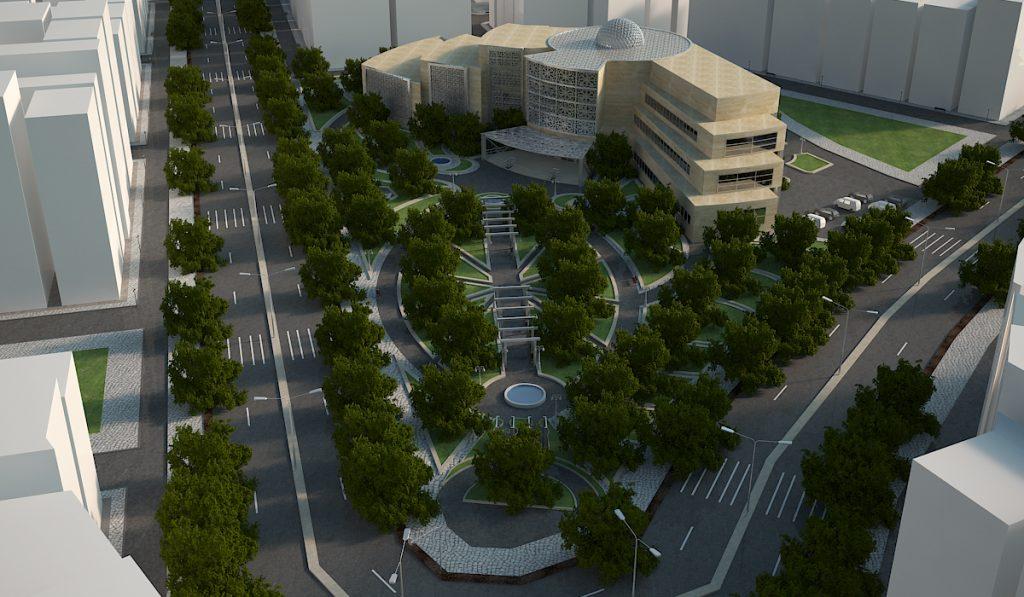 دانلود پروژه طراحی معماری موزه معاصر